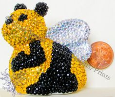 Diamante embellished Bumble Bee B.B.1 by SprattPrints on Etsy, £12.00