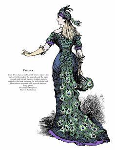 Peacock 1920s Fancy Dress, Masquerade Fancy Dress, Victorian Fancy Dress, Victorian Costume, Victorian Fashion, Vintage Fashion, Peacock Costume, Peacock Dress, Mardi Gras Costumes