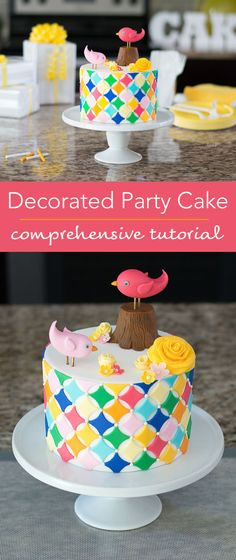 Learn how to decorate a cake in detail with this complete tutorial. Cake Decorating Classes, Cake Decorating Tutorials, Party Cakes, Let Them Eat Cake, How To Make Cake, Cupcake Cakes, Cupcakes, Cake Recipes, Birthday Cake