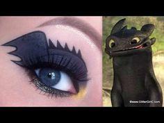 Toothless eye makeup