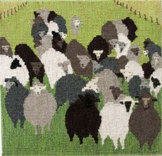"""What will you do with your Black Sheep Yarn? 14"""" x 13"""" by Patricia Dunston"""