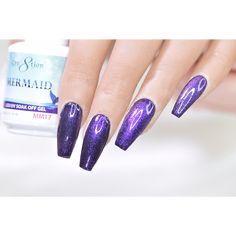 Purple Nail Designs, Nail Supply, Soak Off Gel, Purple Nails, Gel Polish, You Nailed It, Finger, Mermaid, Lipstick