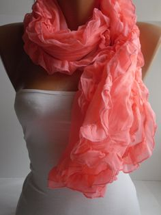 Hotpink Curly Shawl/Scarf by DIDUCI on Etsy, $16.90