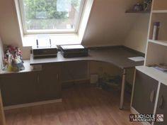 Bureau sous combles closet ideas for back room