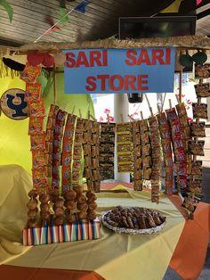 Sari sari store dessert table Filipino fiesta theme party - Lexie P. Dessert Table Birthday, Luau Birthday, First Birthday Parties, Birthday Party Themes, First Birthdays, Moving Away Parties, Party Mart, Filipino Desserts, Filipino Recipes