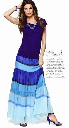 2e2785bc09c2b Ann Taylor - AAP1015M - Ponte Cap Sleeve Shell Striped Maxi, Fashion  Updates, Jacket
