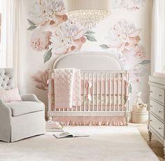 Baby girl nursery room ideas butterfly cribs 57 New ideas Baby Bedroom, Baby Room Decor, Nursery Room, Girls Bedroom, Bedrooms, Baby Girl Bedding, Nursery Decals Girl, Triplets Bedroom, Nursery Sets