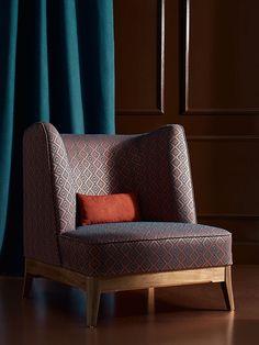 Prestige Apart de Saum und Viebahn | Elegante tapiceria geométrica. Elgant tapisseria geomètrica. #ontario #fabrics