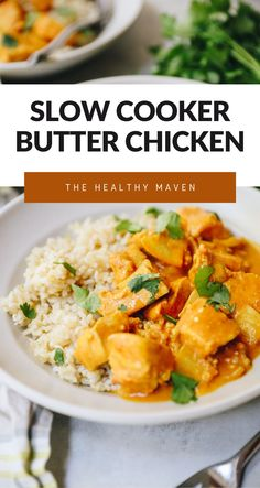 This easy slow cooker butter chicken is a set and forget it recipe with options for making in your Instant Pot or stove-top version too! The perfect combination of Indian spices and tangy flavors with a hint of butter to perfection. The Healthy Maven, Healthy Lifestyle Tips, Healthy Dishes, Healthy Dinner Recipes, Indian Food Recipes, Ethnic Recipes, Quick Weeknight Meals, Healthy Slow Cooker, Butter Chicken