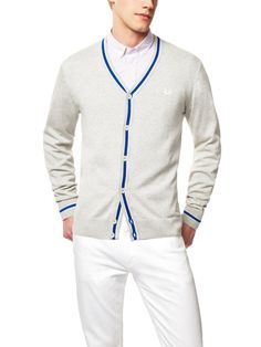 Fred Perry Tipped Cardigan. Yes I want one. #cardigan