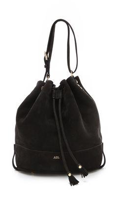APC Suede Bucket Bag.