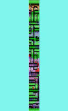 Amazing Maze Thin Bracelet Bead Pattern  Loom Stitch