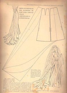 Skirt Kjol med släp marti costura - costurar com amigas - Picasa Albums Web Sewing Dress, Dress Sewing Patterns, Doll Clothes Patterns, Vintage Sewing Patterns, Clothing Patterns, Barbie Clothes, Sewing Clothes, Diy Clothes, Textile Manipulation