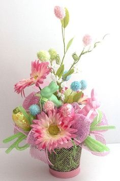 Exceptional Easter Flower ArrangementEaster Centerpiece Holiday By Leopard Good Ideas