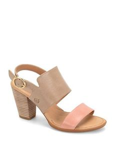 Born Cindie Sabbia-Rosa Leather Sandals Women's Light Grey 9