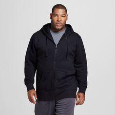 Men's Big & Tall Sizes Fleece Full Zip Hoodies Black 3XLT - C9 Champion, Size: Xxxl Tall, Ebony
