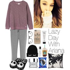 How To Wear Lazy Day With Ariana Grande Outfit Idea 2017 - Fashion Trends Ready To Wear For Plus Size, Curvy Women Over 20, 30, 40, 50