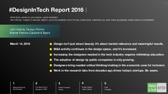 Last year, John Maeda published his inaugural report to reveal the impact Design has made in Silicon Valley. Now, in his second annual report, Ma… Technology Infrastructure, Old Time Radio, Design Fields, Technology Design, Design Strategy, Design Thinking, Service Design, Designer, Design Inspiration