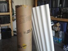 sonotube and plastic corrugated sheeting