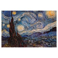 Bring gallery-worthy style to your decor with this lovely canvas print, depicting Vincent van Gogh's The Starry Night.   Prod...