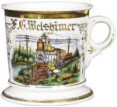 Locomotive Occupational Shaving Mug : Lot 1048