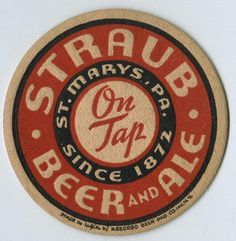 Straub Brewery, St. Mary's, PA