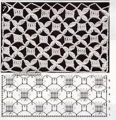 crochet stitches patterns View album on Picot Crochet, Crochet Stitches Chart, Crochet Motifs, Crochet Diagram, Crochet Art, Crochet Squares, Knitting Stitches, Crochet Doilies, Crochet Patterns