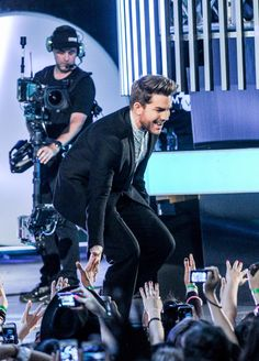 Adam Lambert a past winner and now a presenter on Much Music Video Awards 2015 - Toronto Canada