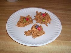 Dinosaur Nest Snack (M instead of jelly beans) - Use For Magic Tree House Book Club Dinosaurs Before Dark