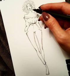 5 emerging fashion designers of 2017 Fashion Model Sketch, Fashion Design Sketchbook, Fashion Design Portfolio, Fashion Illustration Sketches, Illustration Mode, Fashion Design Drawings, Fashion Sketches, Fashion Design Template, Fashion Templates