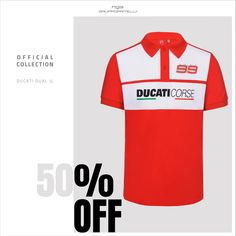 Official Shop: Save 50% on the Jorge Lorenzo Ducati Dual Collection.  #JorgeLorenzo #Ducati #DucatiCorse Ducati, Motogp, Hoodie, Sports, Clothes, Collection, Tops, Hs Sports, Outfits