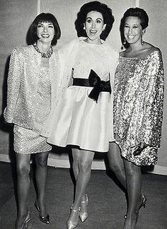 Anna Wintour, Carolyne Roehm and Donna Karan circa 1990 via @FashionEtc