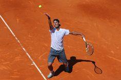 Rafael Nadal - Mutua Madrid Open - Day One, hard at work fine tuning with Toni.