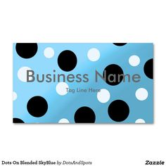 Dots On Blended SkyBlue Double-Sided Standard Business Cards (Pack Of 100)