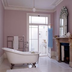 French Mauve Bathroom.