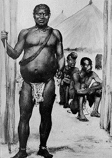 """King Lobengula of Matabeleland and Mashonaland (c1845-c1894),  by Ralph Peacock after E.A. Maund"""