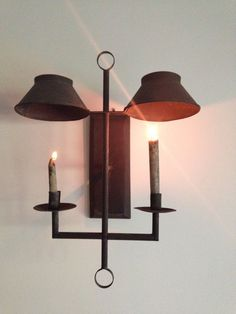 Early look tin sconce   earlycountrysimples   ebay  Primitive  LightingPrimitive  Primitive Tin   Lighting Punch Tin Lanterns   Pinterest  . Primitive Colonial Light Fixtures. Home Design Ideas