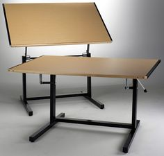 dual adjustment steel drafting table 37 x available in black with birch woodgrainfog gray laminate office furnituredrafting tablesstationary drafting birch office furniture