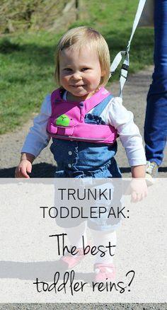Toddler reins - Trunki Toddlepak review