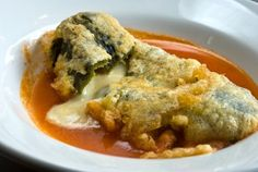 How to Make Chiles Rellenos Recipe and Video Chiles Rellenos Mexican Recipe at , a nationwide online grocery store for authentic Mexican food, cooking recipes, cookbooks and culture. Authentic Mexican Recipes, Mexican Food Recipes, Mexican Cooking, Vegetarian Mexican, Ethnic Recipes, Rellenos Recipe, Chilli Relleno Recipe, Mexico Food, Cooking Recipes