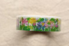 Lotus Washi Masking Tape | Floral Washi Tape | Flower Decorative Tape - 15mm x 6m - journaling / letter writing / collage