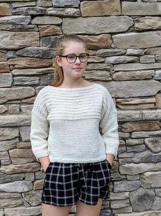 Ribbed Pullover Sweater Crochet PATTERN Cropped Sweater   Etsy