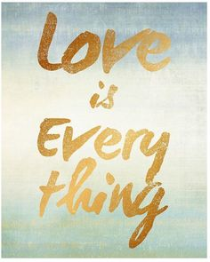 ''Love is Everything'' Canvas Wall Art