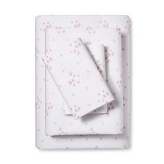 Embroidered Hem Printed Sheet Set (Full) Pink Sprinkle - Simply Shabby Chic® : Target