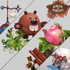 """""""Jack and Jill"""" Game Assets, Svetlana Shalonina on ArtStation at https://www.artstation.com/artwork/jack-and-jill-game-assets"""