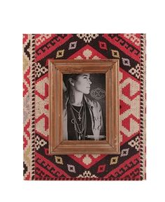 Triple Creek. For the Home. Cordillera Picture Frame. Red & Black. 4x6