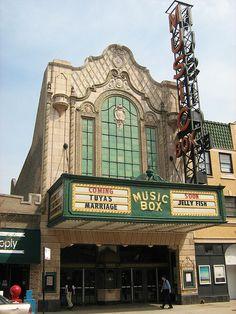 Southport Corridor, Chicago. The Music Box Theatre.