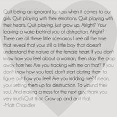 Matt chandler on dating