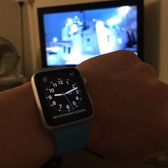 Playing Call of Duty and sporting my new blue band on my Apple Watch  #applewatch #Apple #smartwatch #CallofDuty #Gamer #PS4 #Applewatchblueband by surfingislander