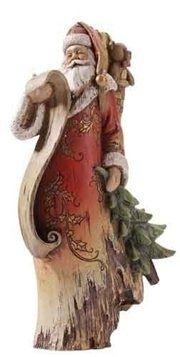 Driftwood Style Santa Claus Christmas Figure